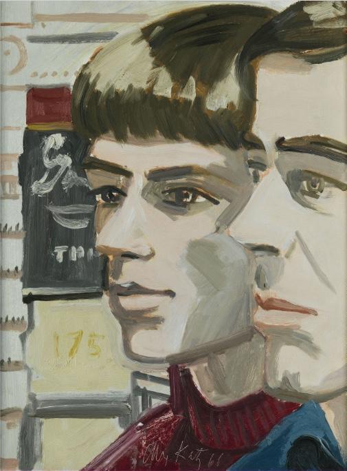 ALEX KATZ (*1927 New York) - John Button and James Burton, Öl/Karton, 40,6 x 30,4 cm, signiert und datiert, 1966 Schätzpreis: 150.000-250.000 EUR