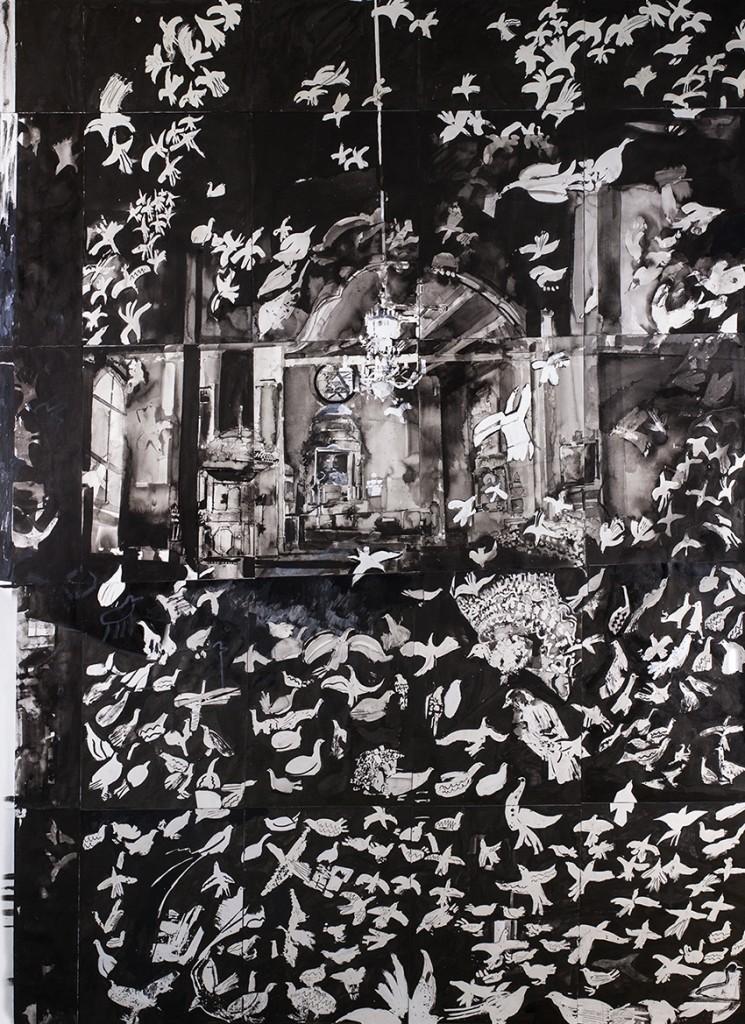 Fåglar, Albin Liljestrand. Foto: Galleri Bergman.