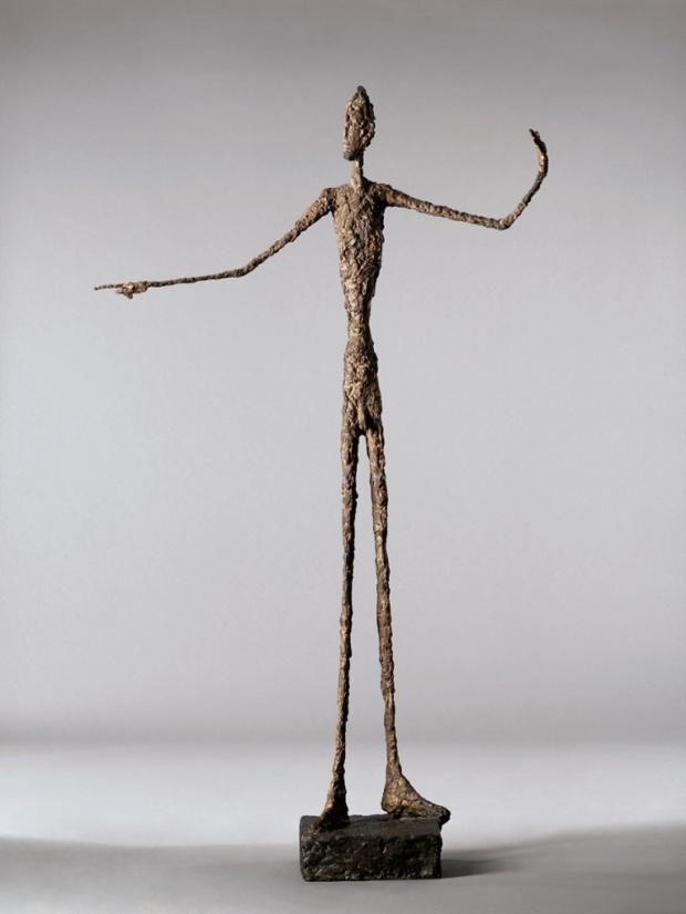 L'Homme au doigt, 1947, par Alberto Giacometti Photograph: Visko Hatfield/AP