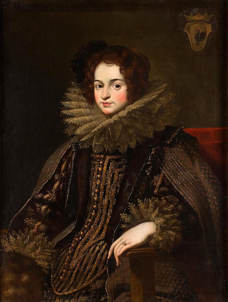 Carlo Ceresa (San Giovanni Bianco 1609 - Bergamo 1679) - Portrait of a young Edeldame