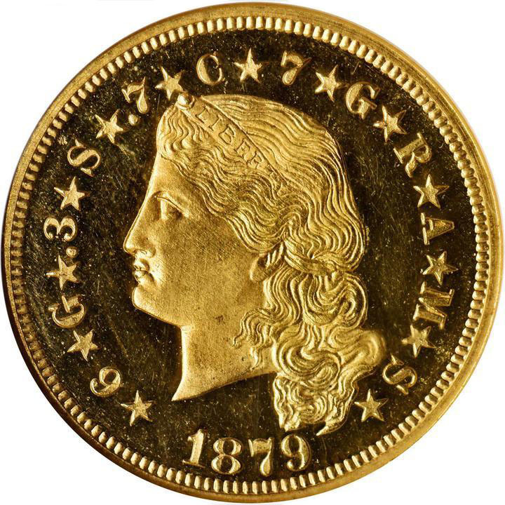 1879 Four-Dollar Gold Stella. Foto: Stack's Bowers.