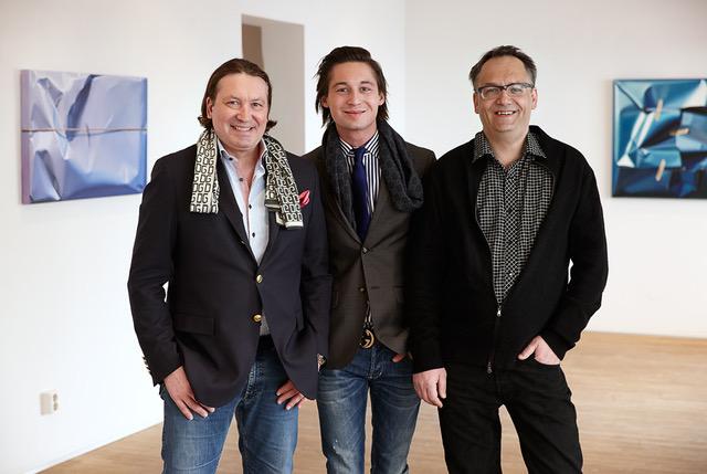 Thomas, Ludvig och Karl-Johan Bergström på Galleri GKM i Malmö.
