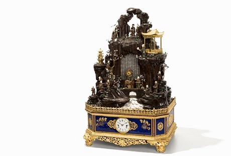 Imperial Immortal Mountain Clock fetched an astounding € 3.37 million in Auctionata's June Important Asian Art auction.