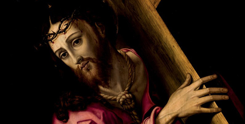 """Détail de Luis de Morales (1509 - 1586), """"Nazareno"""", Huile sur toile, 100 x 76,5 cm Estimation basse: 70 000 euros"""