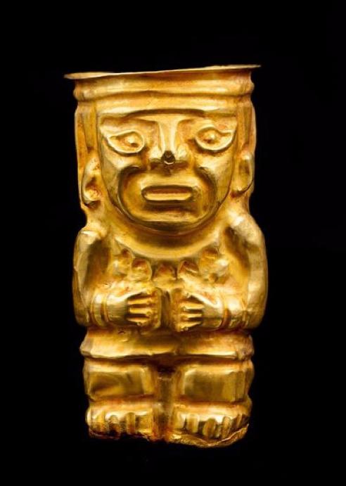 Récipient anthropomorphe Chimu, Pérou, 1100-1400 après JC. Origine Auction
