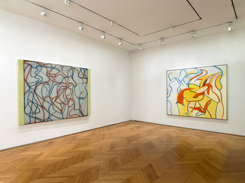 A de Kooning retrospective at Skarstedt with Untitled VII to the right wall. Photo: John Berens for Brooklyn Rail