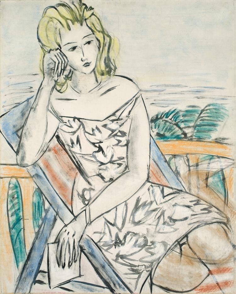 """Max Beckmann. """"Bildnis eines jungen Mädchens (nicht vollendet)"""". (before) 1939. Oil and coloured chalk on canvas. Precio mínimo estimado: 1000 000 EUR. Grisebach"""