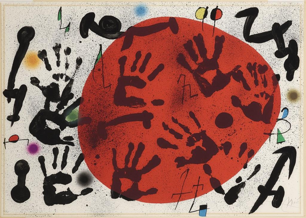 JOAN MIRÓ (1893 Barcelona - 1983 Palma de Mallorca) - El Fogainer, Lithographie, signiert, 1973