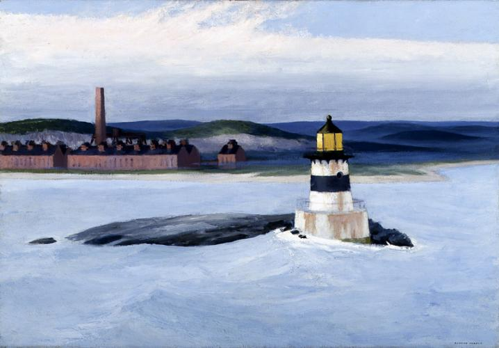 "Edward Hopper, ""Five A.M."" år 1937. Foto via Wikiart."