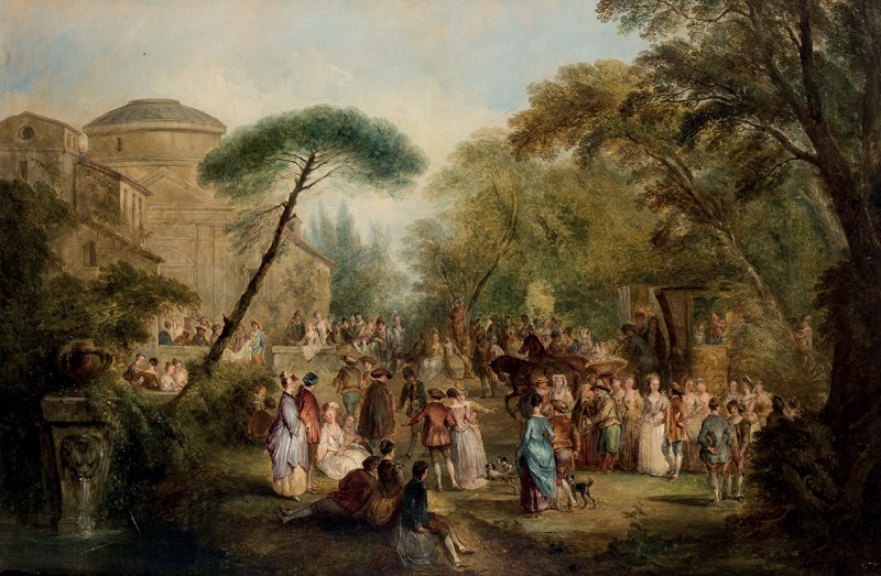 Objekt 109: Henry Adrews (1794-1868). Country Festival. Olja på canvas. Startpris: 84 000 kronor.