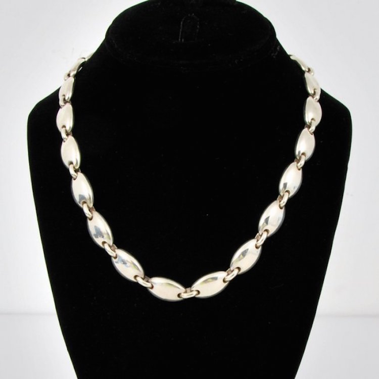 Tiffany & Co. Sterling Silver Necklace. Estimate $600 – $800
