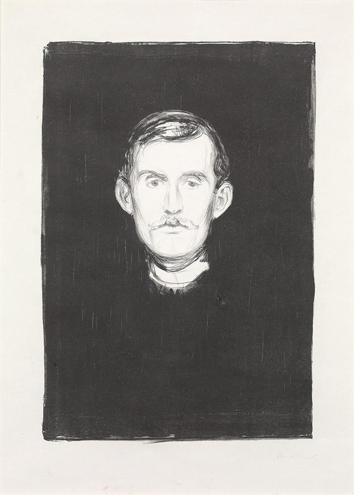 Edvard Munch Selvportrett, år 1895. Foto: Blomqvist.