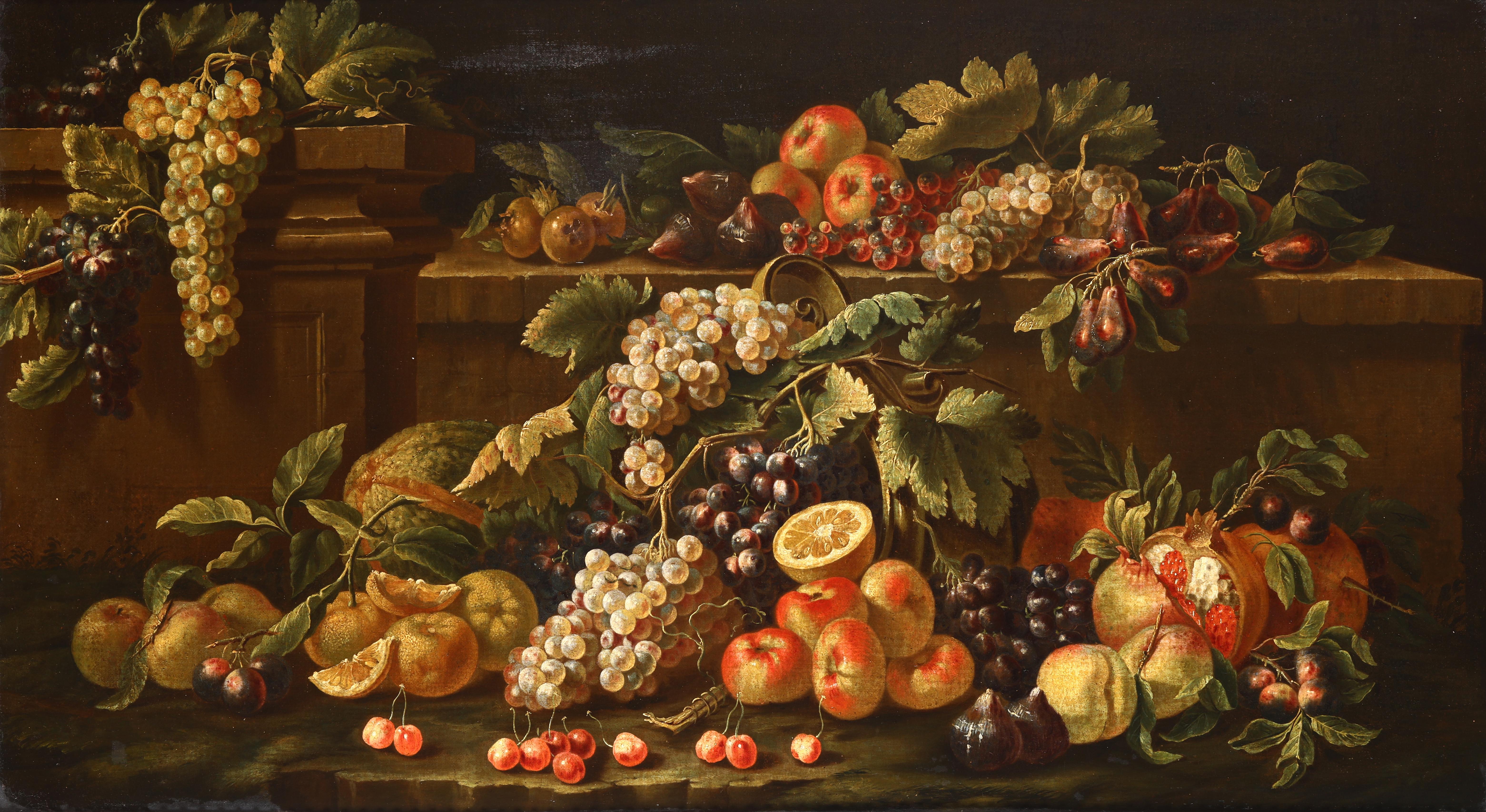 ABRAHAM BRUEGHEL - Stillleben mit Früchten, Öl/Lwd.