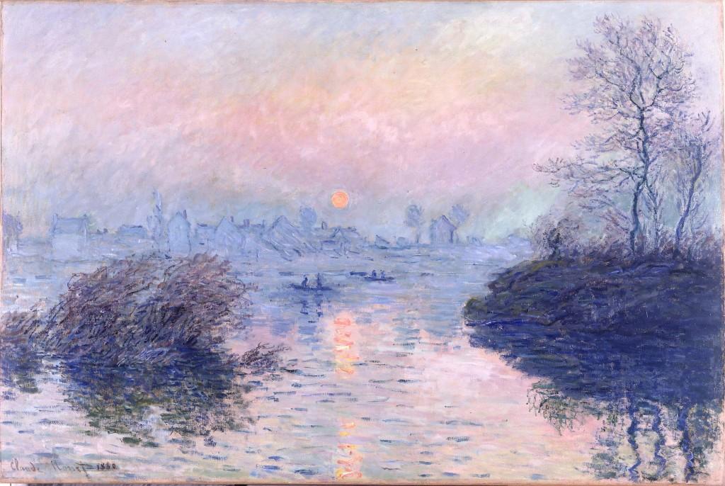 Claude Monet, Sonnenuntergang an der Seine bei Lavacourt, 1880 (Petit Palais)