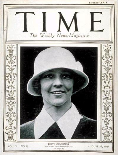 Time Magazine, Volume IV Issue 8, August 25, 1924 The cover shows the 1923 U.S. Women's Amateur Champion, Edith Cummings.