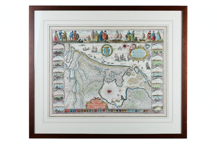 "KARTA, ""Comitatus Hollandia"", efter Van den Hoeye. Utropspris: 200 SEK. Auktionshuset i Solna"
