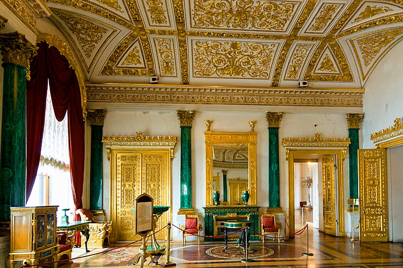 Der Malachit Saal im Winterpalast in St. Petersburg Foto: huffingtonpost.com