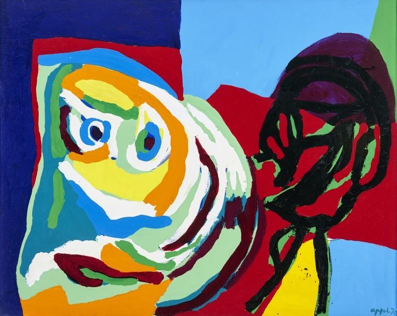 """Karel Appel, """"Waiting in Space"""", 1970"""