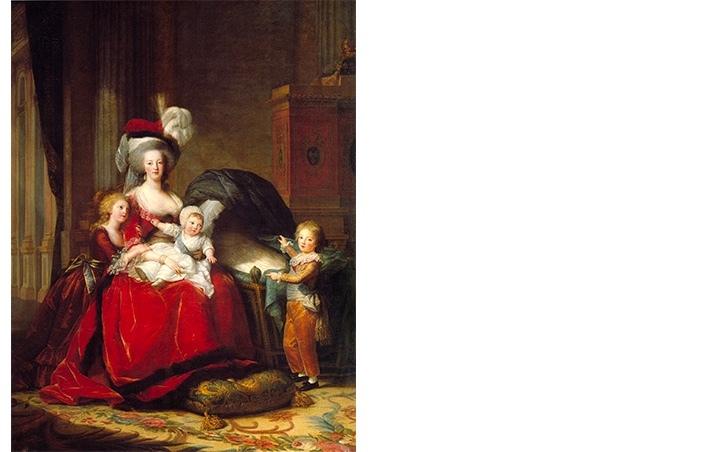 "Élisabeth-Louise Vigée-Lebrun, ""Marie Antoinette and Her Children"", år 1787. Foto via Wikipedia."