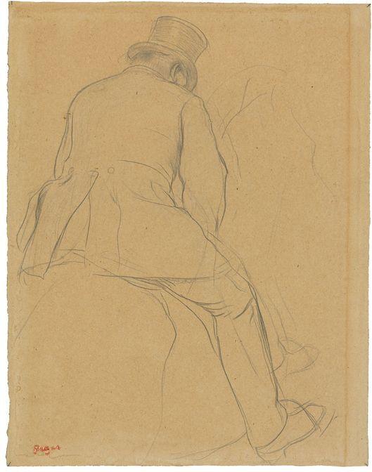 "Edgar Degas, ""Cavalier"", 1866-73, matita e carta. Foto: Grisebach"