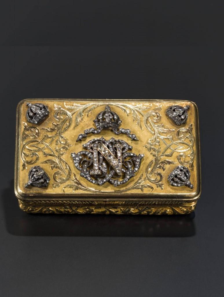 Tabaquera en oro de Maximiliano I de México (1832-1867). Precio de salida: 15.000 €
