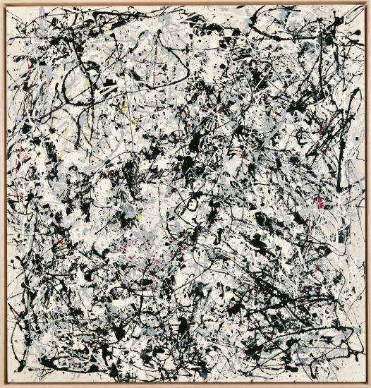 ART & LANGUAGE Portrait of V.I Lenin by V. Charangovitch (1970) in the style of Jackson Pollock III, 1980. Hammer price: 58 850 GBP. Phillips