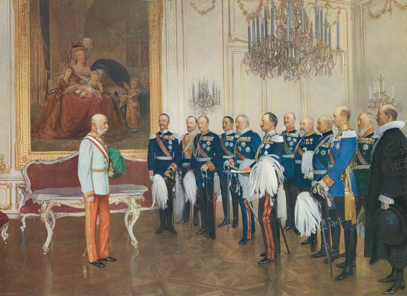 Franz Matsch, Frans Josef den förstas 60-årsjubileum. Foto via Wikipedia.