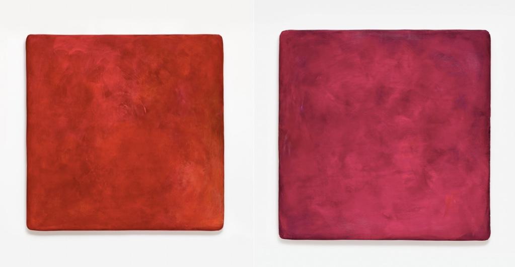 GOTTHARD GRAUBNER (Erlbach/Vogtland 1930 - 2013 Neuss) Links: Farbraumkörper I Rechts: Farbraumkörper II Beide: Öl und Acryl/Lwd./Synthetikwatte, ca. 204 x 204 x 20 cm, signiert und datiert, 1997 Schätzpreis: je 250.000-350.000 EUR