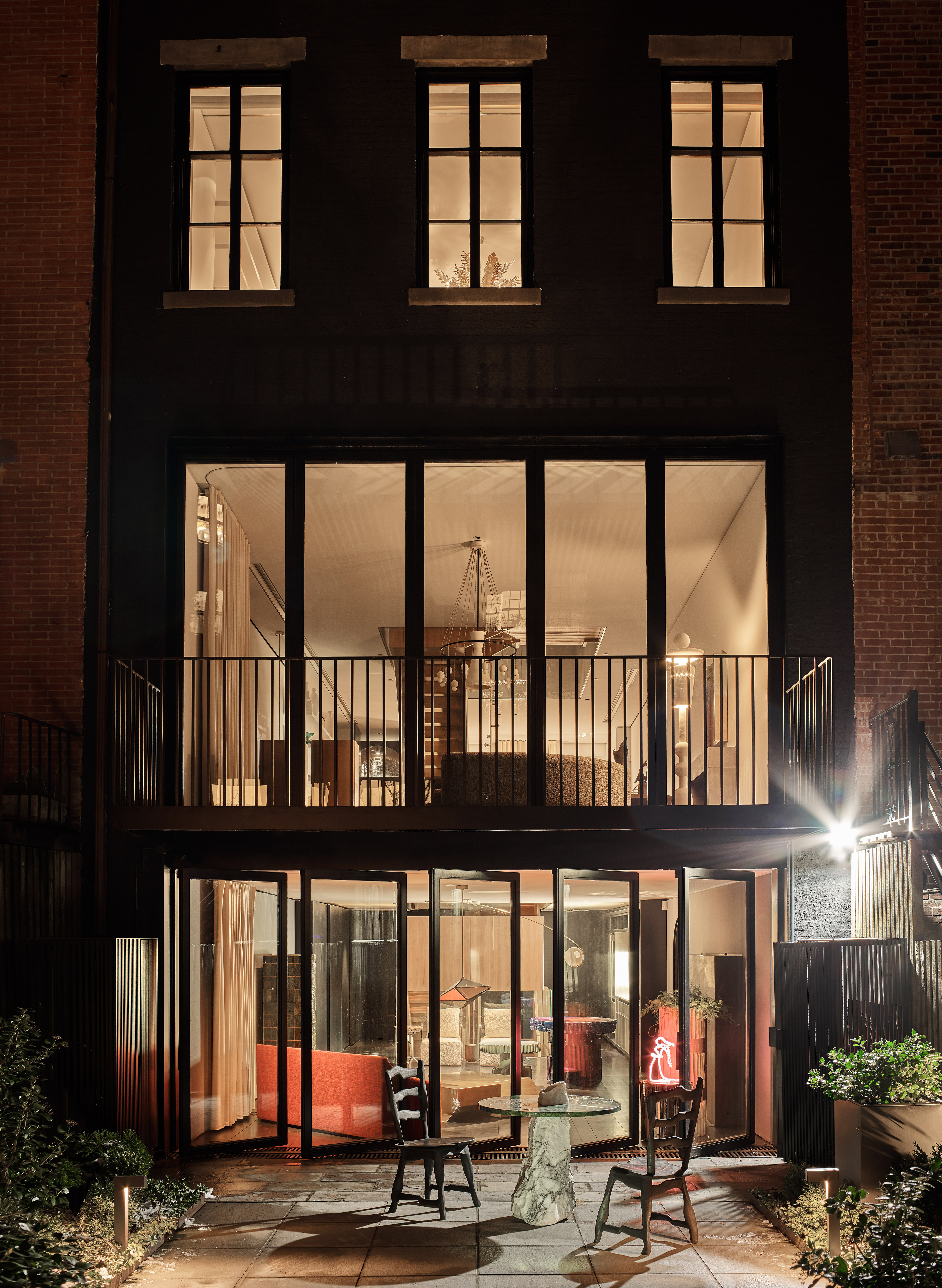 The rear of the Casa Perfect New York townhouse. Image: Douglas Friedman