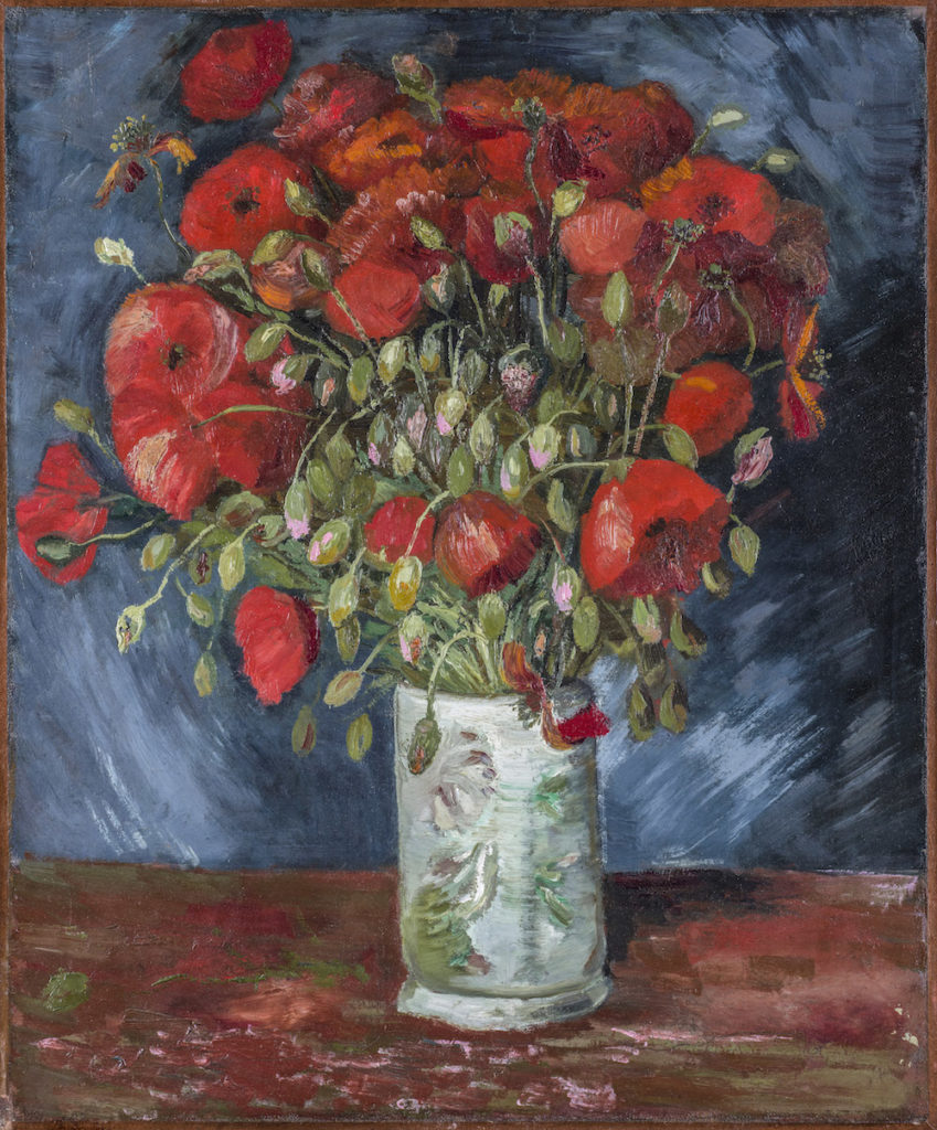 Vase with Poppies, Vincent Van Gogh. 1886, oil on canvas. Image: Wadsworth Atheneum Museum of Art