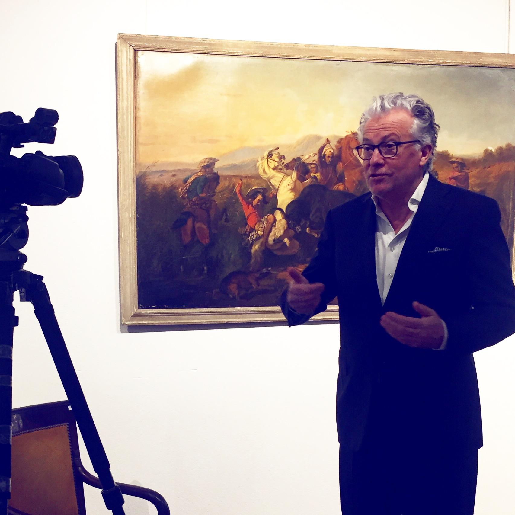 """La """"chasse au taureau sauvage (Bateng)"""" est une """"une œuvre exceptionnelle sur le plan muséographique"""" selon Me Ruellan Image: courtesy of Ruellan"""