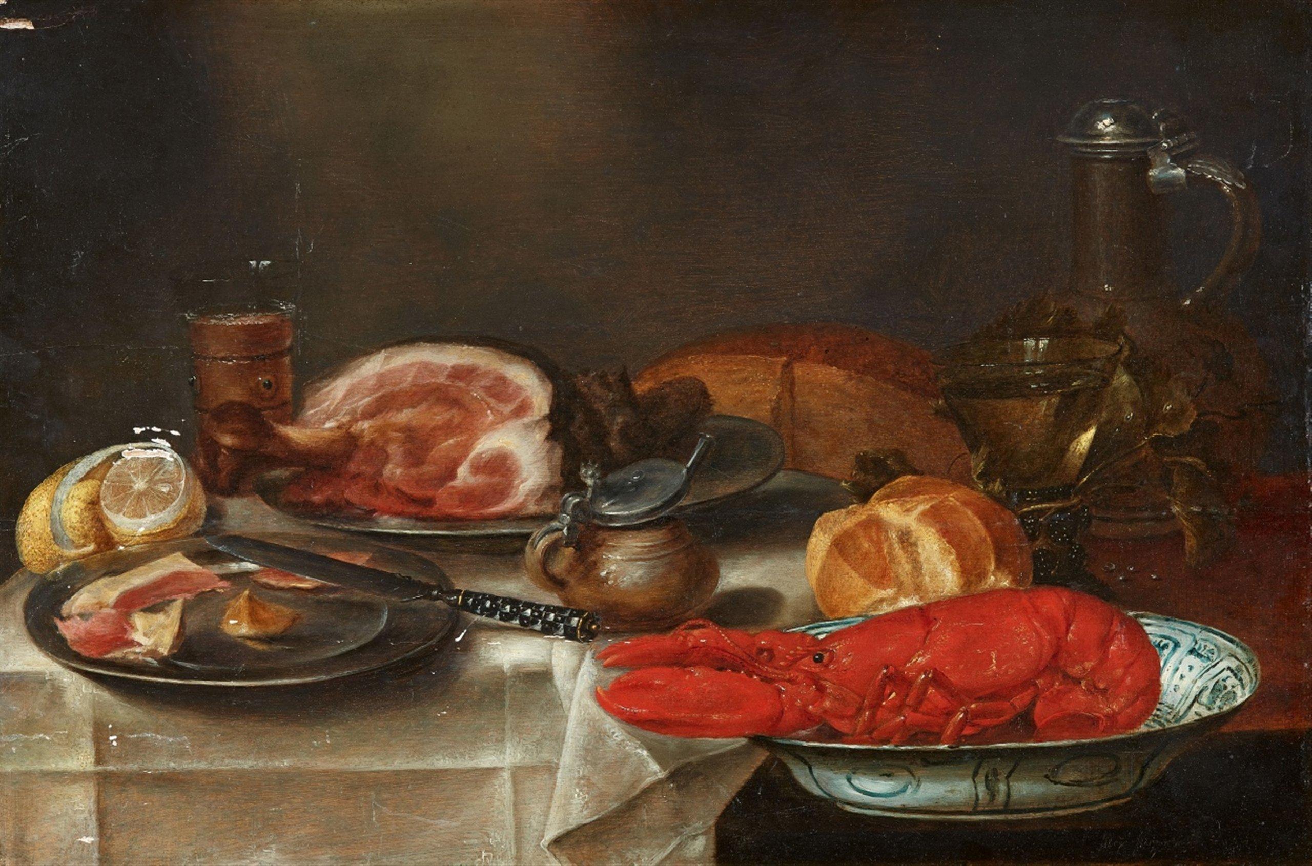 Alexander Adriaenssen (Anvers 1587 - 1661), Nature morte au homard - Lempertz. Estimation: 7000€ - 12 000€