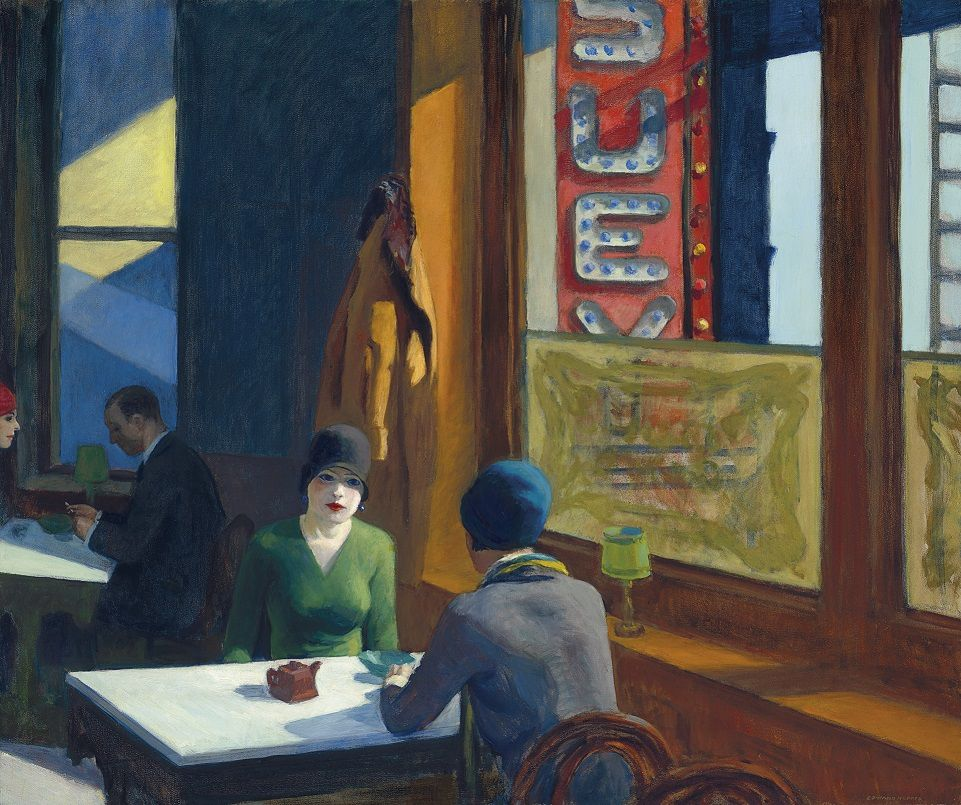 Edward Hopper, Chop Suey (1929), image ©Christie's