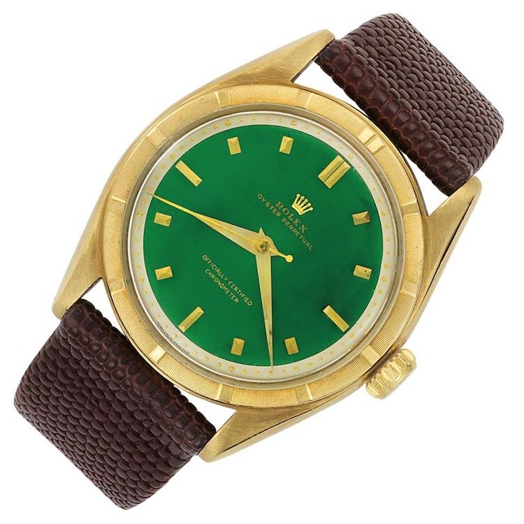 Gentleman's Gold Wristwatch, Rolex. Estimated at $4,000 - $6,000. Doyle New York