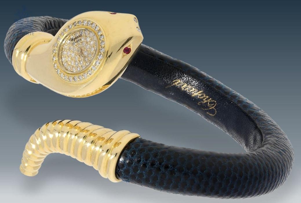 Detailgetreue Schlangenuhr mit Diamanten von Chopard