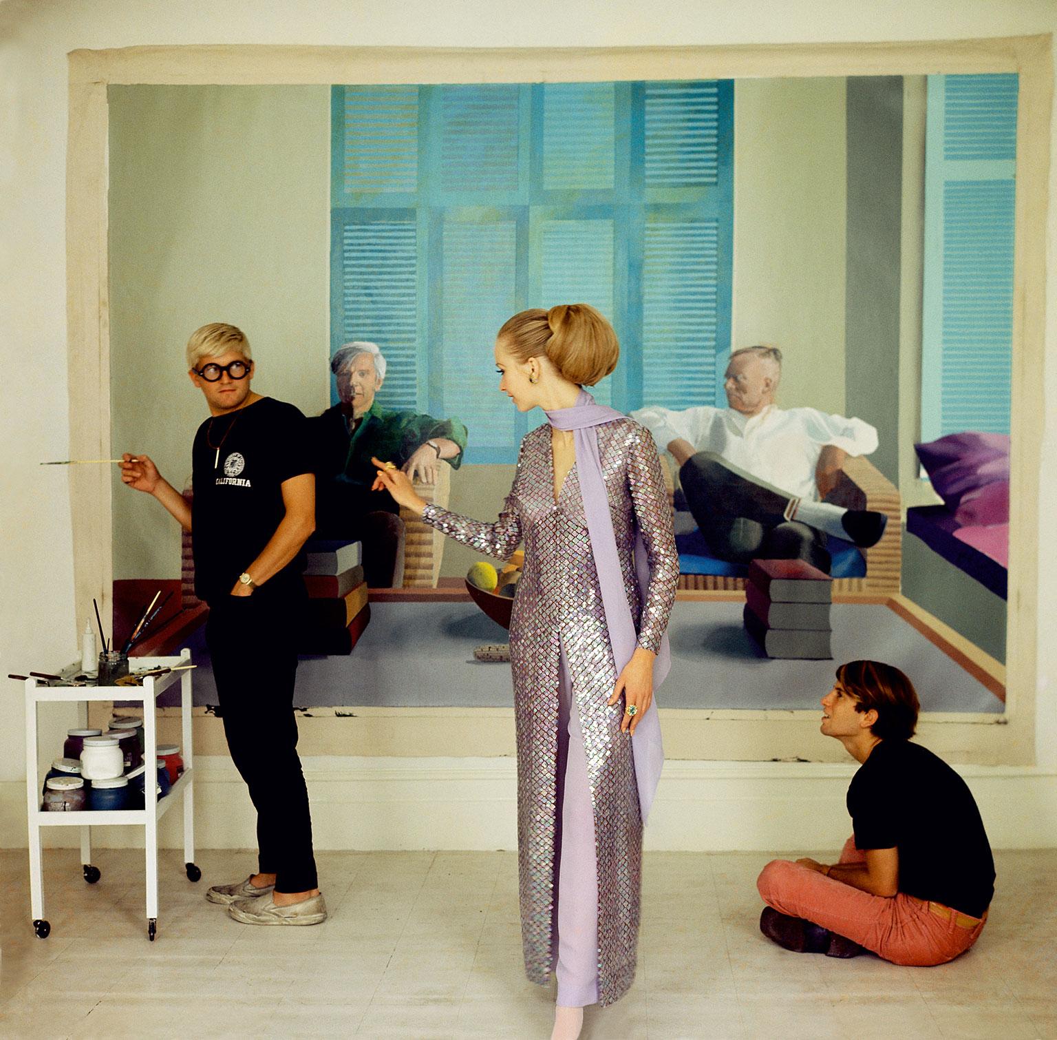 Cecil Beaton, David Hockney, Peter Schlesinger and Maudie James, 1968 Image: © The Condé Nast Publications Ltd