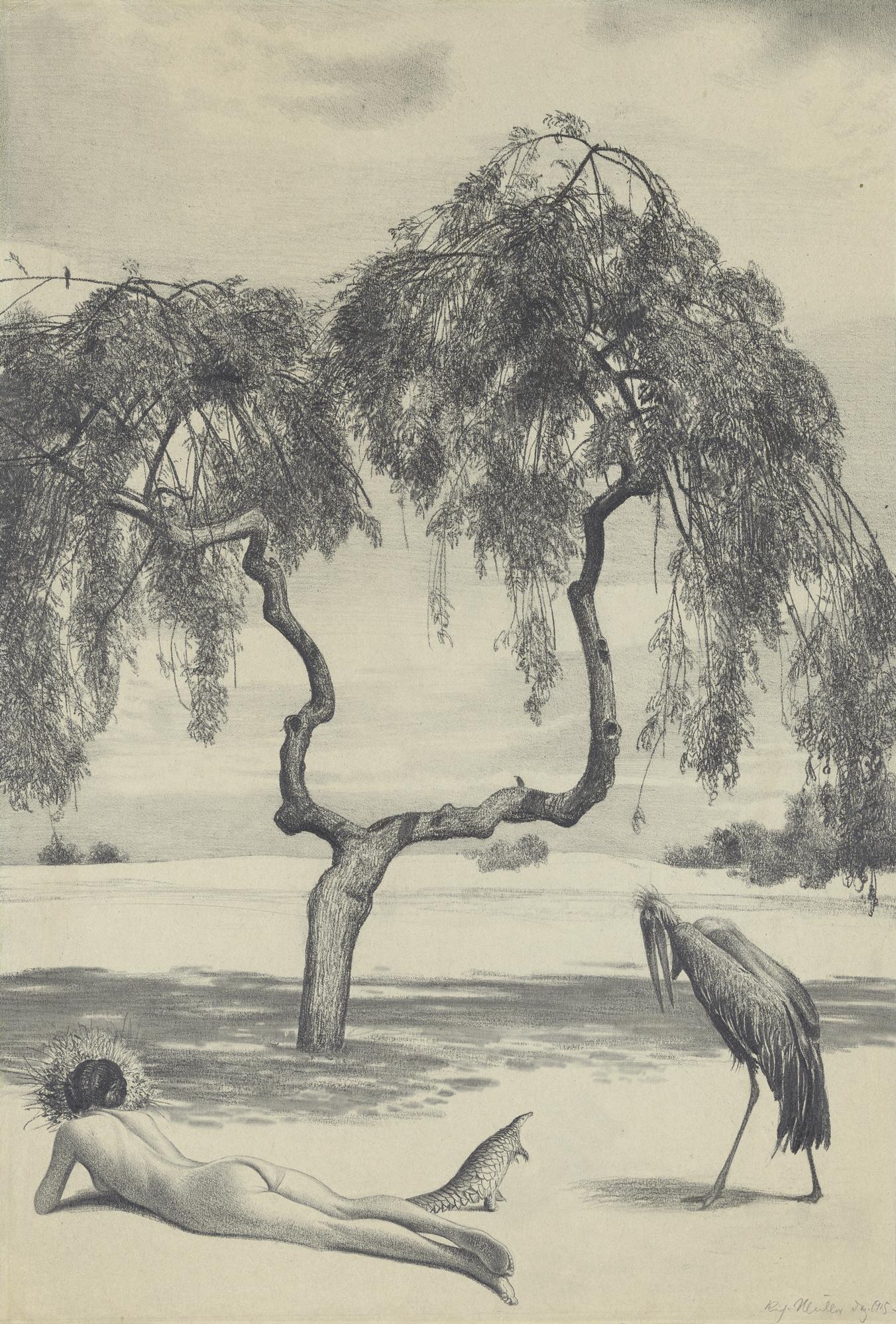 Dans le soleil de midi (In der Mittagssonne, 1915), Richard Muller