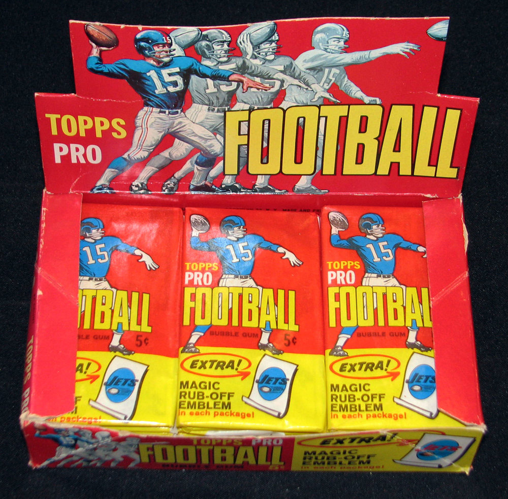 Unopened box of 1965 Topps cards