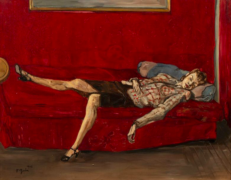 Francis Grüber, 'Woman on a Red Bed', 1946. Photo: © Rossini