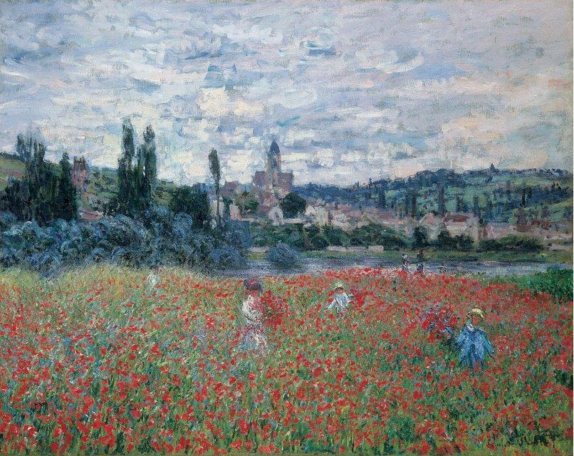 Claude Monet - Mohnfeld bei Vétheuil, 1879