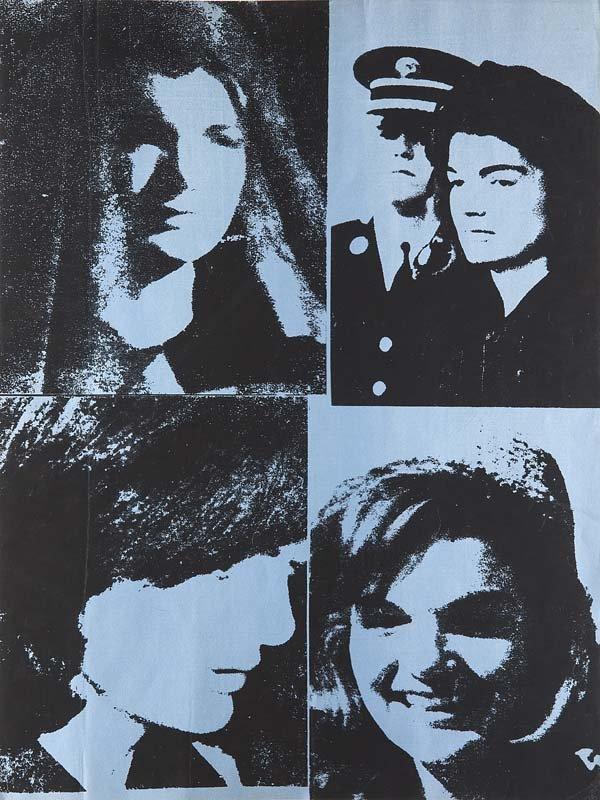 ANDY WARHOL - Jacqueline Kennedy III (Jackie III), Serigraphie in Schwarz und Metallic-Blau auf Karton, 101,6 x 76,2 cm, Signaturstempel, 1966 Schätzpreis: 10.000-16.000 EUR