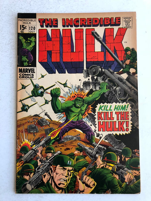 The Incredible Hulk #120 Last Stan Lee Plot, år 1969. Foto: Catawiki.