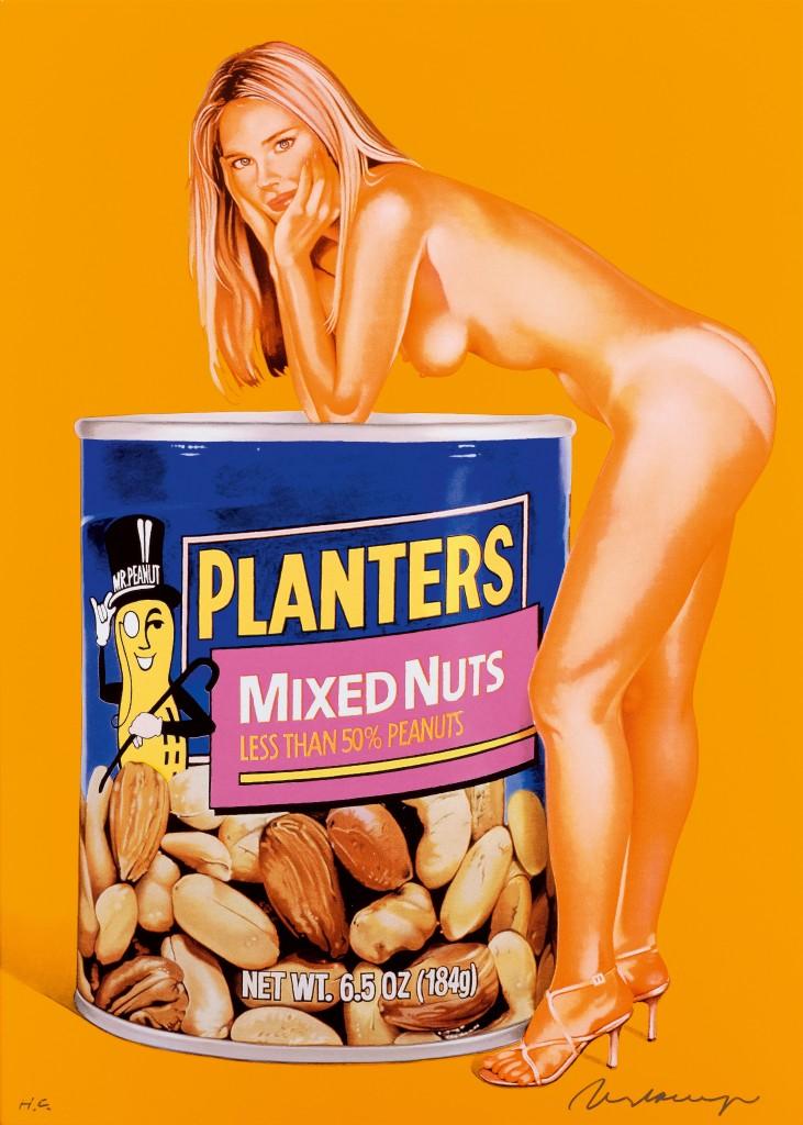 Mel Ramos, Mixed Nuts, år 2008. Foto: Koller.