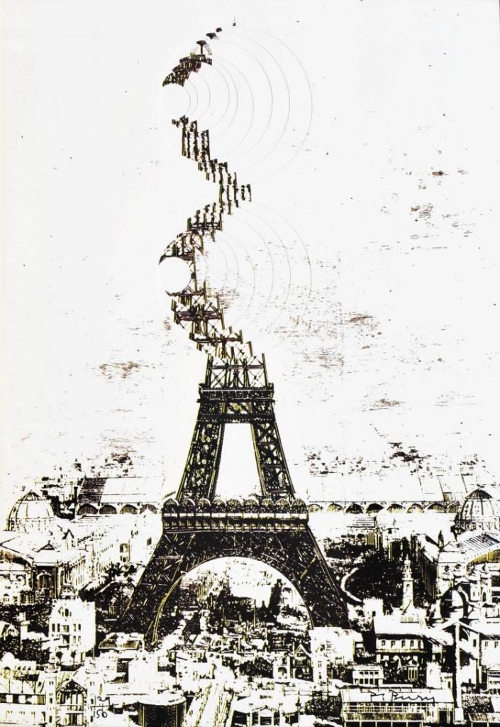 POL BURY (1922-2005) Paris, Sérigraphie signée et numérotée 129/150 au feutre noir Accademia Fine Art