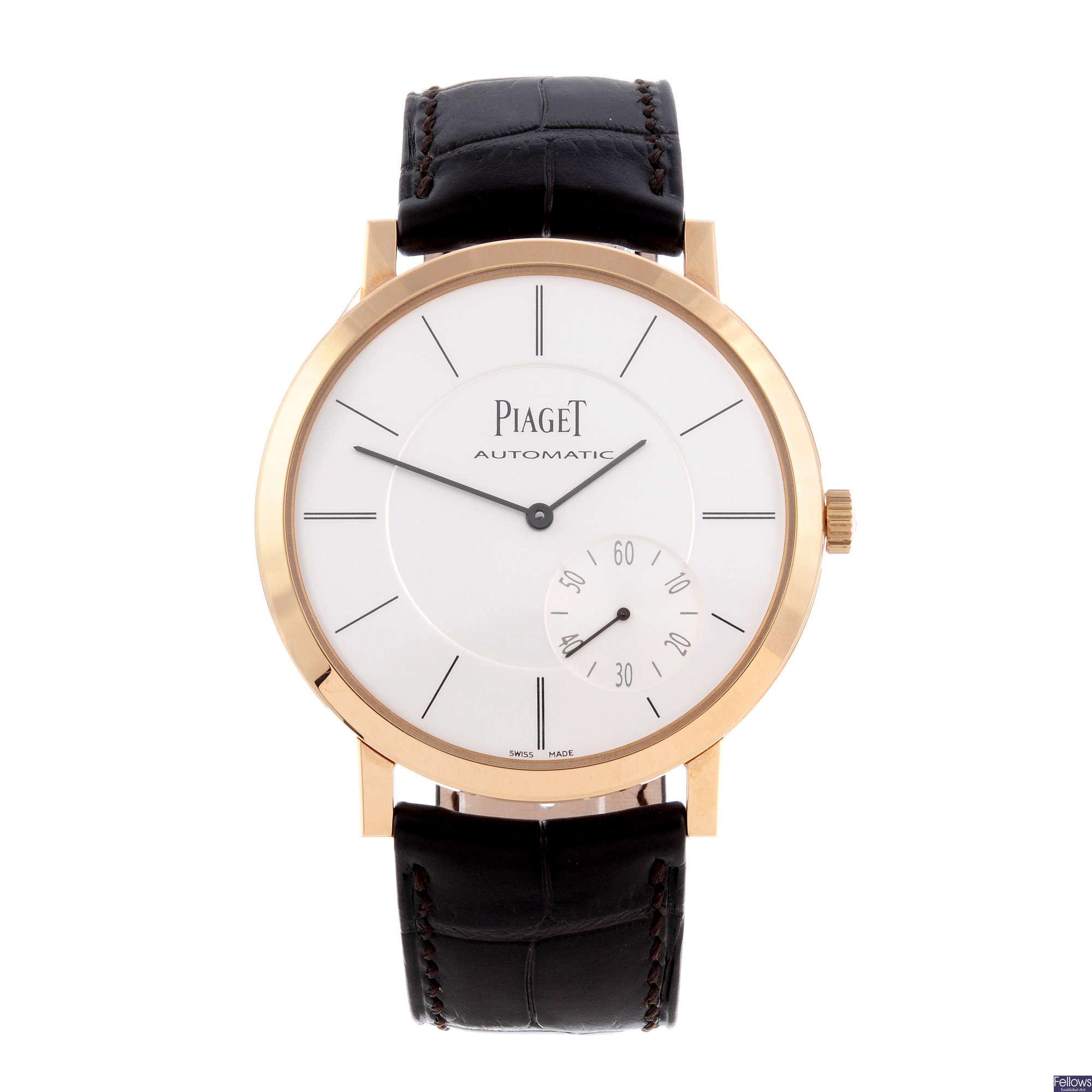 "18ct rose gold Piaget Altiplano ""Ultra-Thin"" wrist watch"