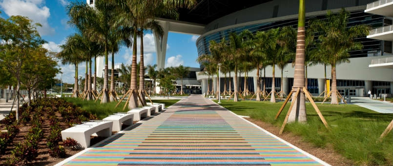L'installation permanente de Miami. Image: cruz-diez.com