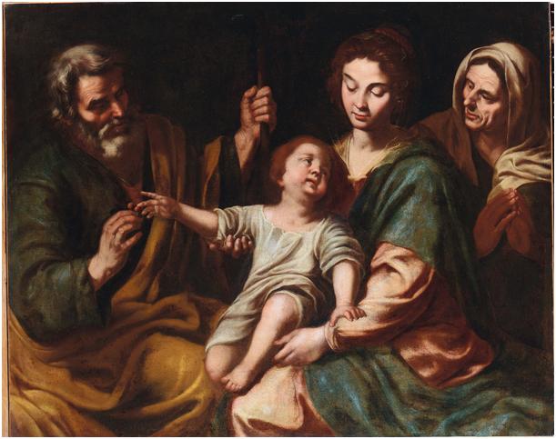 DOMENICO FIASELLA (Sarzana 1589-1669) Umkreis - Die heilige Familie mit der heiligen Anna, Öl/Lwd., 140 x 110 cm Schätzpreis: 10.000-12.000 EUR