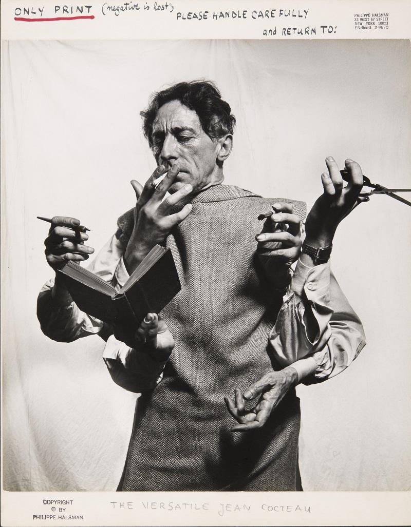 Philippe Halsman. Jean Cocteau, El artista multidisciplinario (1949). © 2016 Philippe Halsman Archive / Magnum Photos