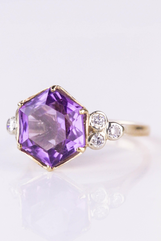 Amethyst and Diamond Ring. Photo: John Pye