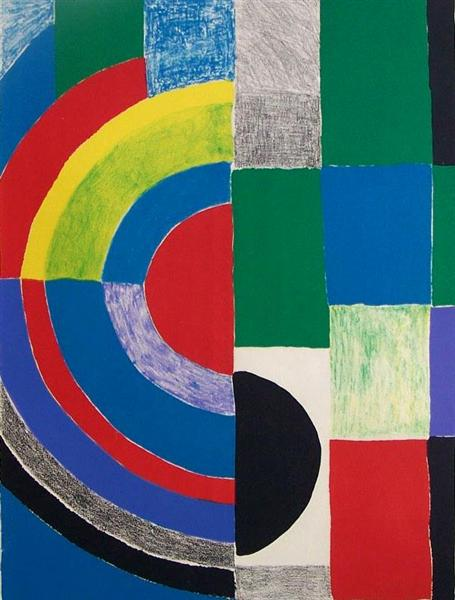 Color Rhythms, Sonia Delaunay. 1970, stone lithograph on paper.